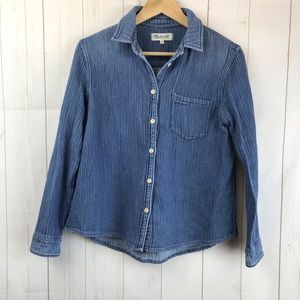 Madewell Chambray Button Down Shirt Size S